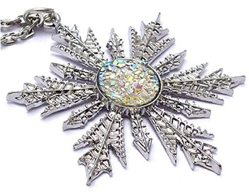 Frozen Snowflake Pendant Charm Necklace Anna Elsa Once