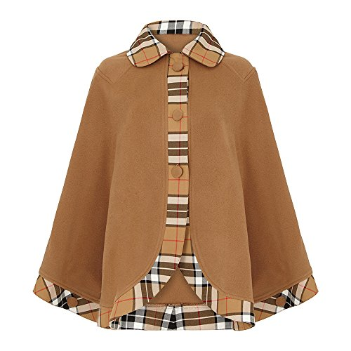 Tartan Trim Cape, Camel Thomson (Thomson Cape)