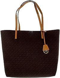 Womens Large Hayley Canvas Shoulder Leather Shoulder Bag Tote