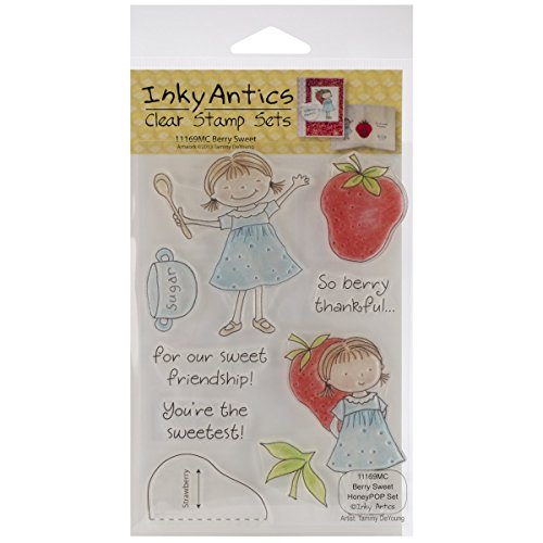 Stampers Anonymous Honeypop Stamp Set, 4-Inch by 5.25-Inch, Berry Sweet, Clear