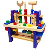 Lewo Wooden Workbench with Tools Pretend Play Toolbox Review and Comparison