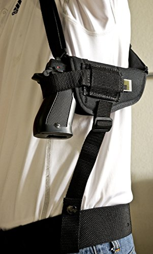OutBags USA NSH02 (RIGHT) Nylon Horizontal Shoulder Holster w/Double Mag Pouch. Family owned & operated. Made in USA