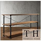 Tribecca Home Industrial Tv Stand. This Stylish Furniture Is the Perfect Addition to Any Room in Your House. Use It As an Entertainment Center or to Store Books, Magazines, and More.