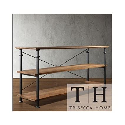 Amazon Com Tribecca Home Industrial Tv Stand This Stylish