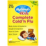 Kids Cold and Flu Relief Tablets by Hyland's 4Kids, Complete Cold 'n Flu, Natural Homeopathic Relief of Cold and Flu, 125 Count