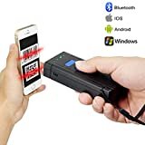 2D Bluetooth Barcode Scanner,Symcode Portable Wireless Handheld CMOS Barcode Scanner Reader For POS/Android/IOS/Imac/Ipad with Bluetooth 4.0 Receiver