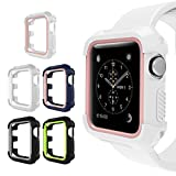 UMTELE Rugged Apple Watch Case 42mm, Shock Proof Bumper Cover Scratch Resistant Protective Case for Apple Series 3, Series 1, Pack of 5