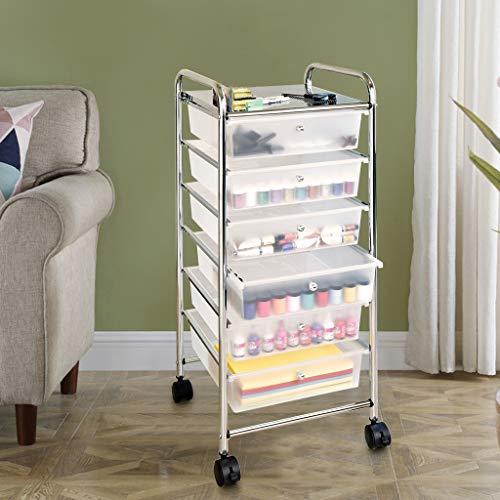 Libobo6-Layer Drawer Storage Cart Multi-Layer Debris Storage Cabinet