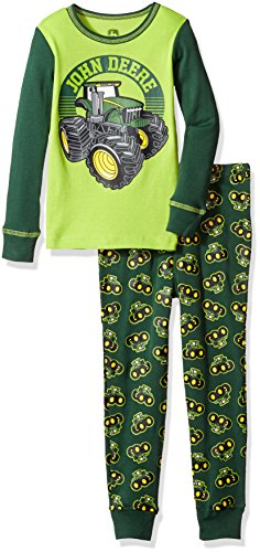 John Deere Boys' Little Pj, Green, 6