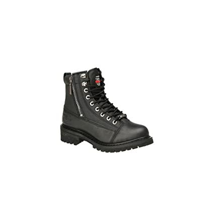 fd3aac1ac39 Milwaukee Motorcycle Clothing Company Accelerator Leather Women's  Motorcycle Boots (Black, Size 7C)