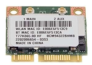 Original Acer Wireless LAN/W tarjeta de Lan Tarjeta con Bluetooth TravelMate P245de MP Serie