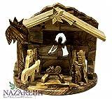 Bethlehem Star Nativity Statue Hand Carved Olive Wood Set Holy Land 6.7''