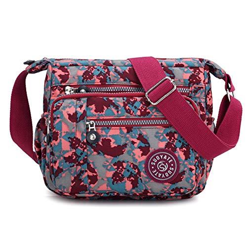 - Kukoo Multi Pocket Crossbody Bag Spacious Shoulder Purse Waterproof Travel Handbags for Women (A-Camouflage)