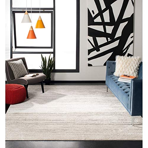 Safavieh Adirondack Collection ADR113B Ivory and Silver Modern Abstract Area Rug (8' x 10')