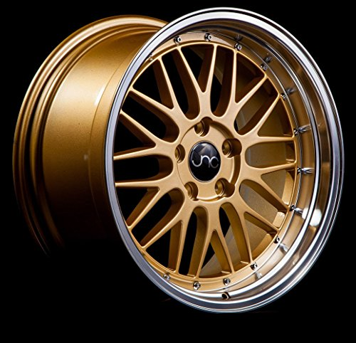 JNC005 Gold Machined Lip 18x8 5x120 ET34 Offset Wheel Rim