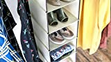 Home Hanging Clothes Storage Box (6 Shelving Units) Durable Accessory Shelves - Eco- Friendly Closet Cubby, Sweater & Handbag Organizer - Keep Your Wardrobe Clean & Tidy. Easy Mount.