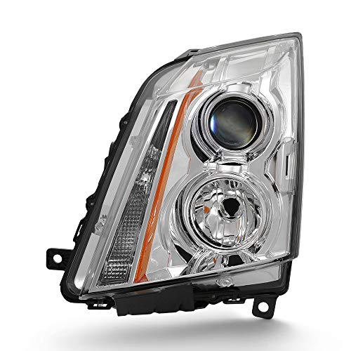 For 2008-2013 Cadillac CTS Driver Side Projector Headlight Assembly Chrome Housing Clear Lens (Cadillac Cts Headlight Assembly)