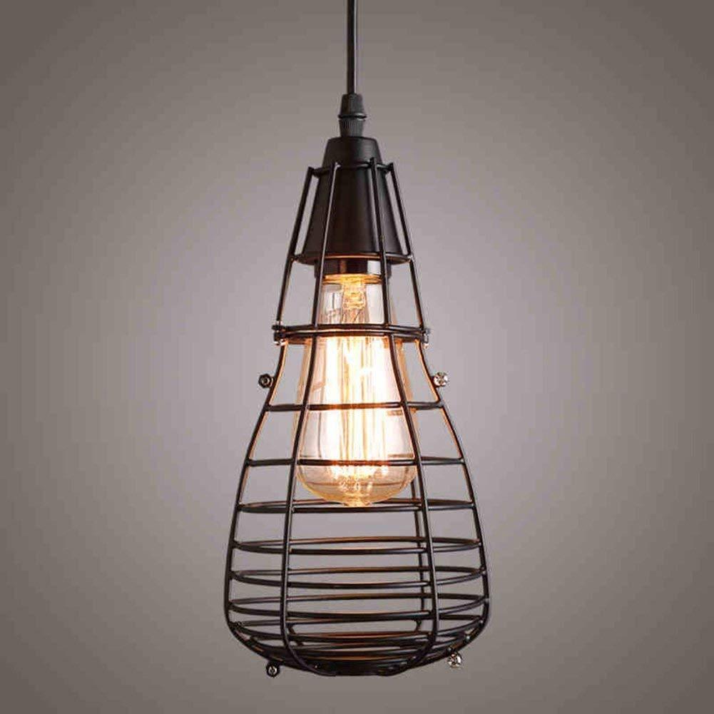Honor americana, teniendo ropa retro Industrial Café Bar Restaurante Lounge candelabro de jaula de hierro: Amazon.es: Iluminación