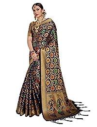 Elina fashion Sarees for Women Banarasi Patola Art Silk Woven Saree l Indian Ethnic Wedding Gift Sari with Unstitched Blouse