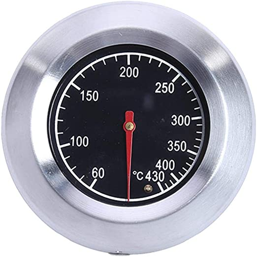 Guangcailun Utensilios para Hornear F//C de Acero Inoxidable Barbacoa Grill Pit Fumador Term/ómetro Medidor de Temperatura con Doble Gage 300 Grados Utensilios de Cocina