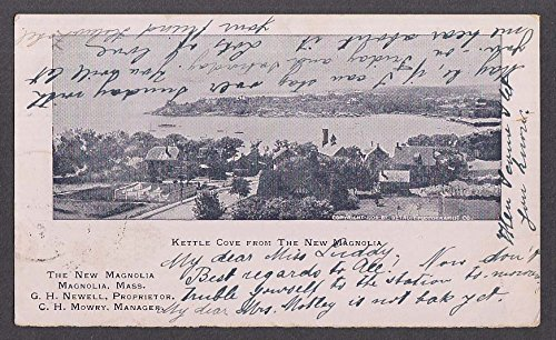 Kettle Cove from The New Magnolia MA undivided back postcard 1906