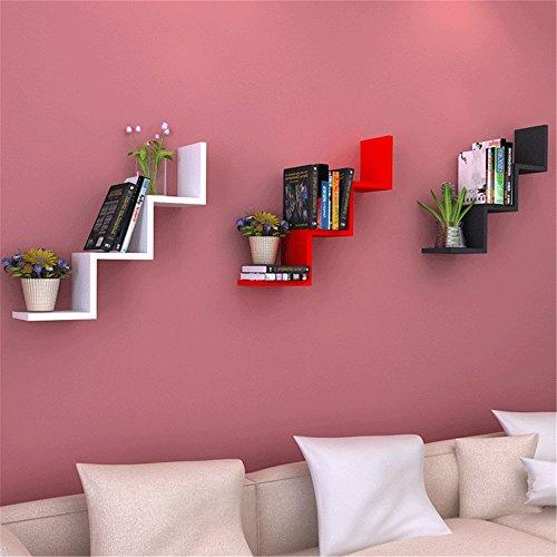 Amazon.com: Floating Wall Shelves,W Shaped Floating Wall Shelf Rack ...