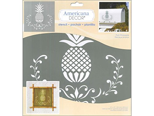 DecoArt Americana Decor Stencil Posh Pineapple