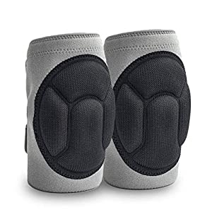 JYSW Knee Pads Comfortable Non-Slip, Thick Extra Foam Cushion kneepads for Scrubbing Floors, Gardening, Yoga…