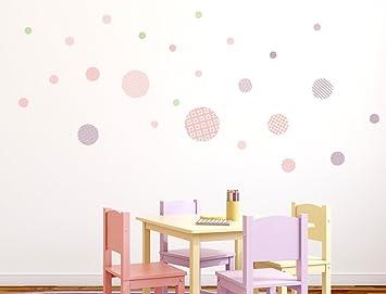 Babyzimmer mädchen wandtattoo  I-love-Wandtattoo WAS-10090 Kinderzimmer Wandsticker Set Kreise mit ...