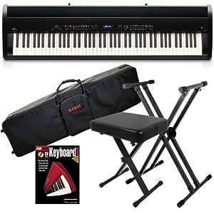 kawai es7 digital piano stage bundle w keyboard case stand bench musical. Black Bedroom Furniture Sets. Home Design Ideas