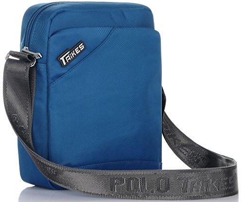 TAIKES Men's Shoulder Travel Messager Bag Crossbody Ipad Bag Daypack Coffee-3