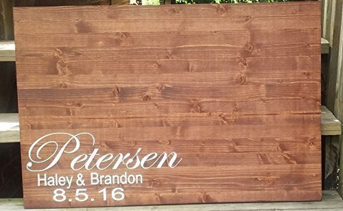 Wood Wedding Guestbook Rustic Wedding, Guest Book Alternative, Guestbook Alternative, Personalized Guestbook, Rustic Wedding Sign