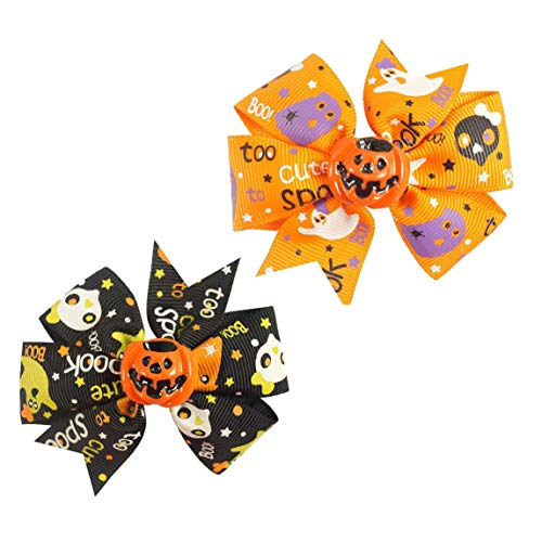 Baby Halloween HairPin HairClips with Bowknot Hair bow Kids Girl Hairgrip JHH23 (C3) ()