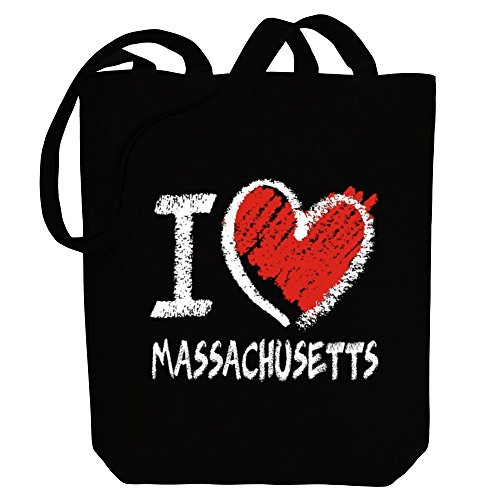 Canvas Idakoos chalk Bag Massachusetts love Usa States Tote style I AAw0q4