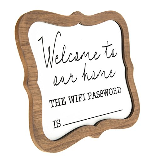 Welcome Wifi Password Whiteboard Desk or Table Sign]()