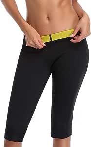 OLDSAN Sauna Pantalones Mujer Neopreno Quemagrasas Pantal/ón con Bolsillos,Muy Adecuado Sudoraci/ón Adelgazante,Yoga,Fitness 6