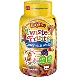 L'il Critters Twisted Fruits Flavors Complete Multivitamin, 140 Count (Packaging May Vary)