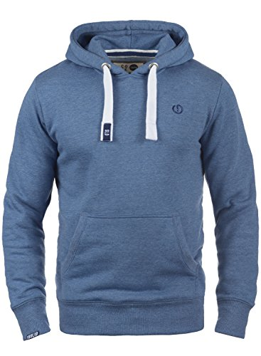 Doublure Polaire Bennhood Hoodie Melange Pour Pull Faded 1542m Homme Capuche À solid Sweat Blue n8wdqXF4zz