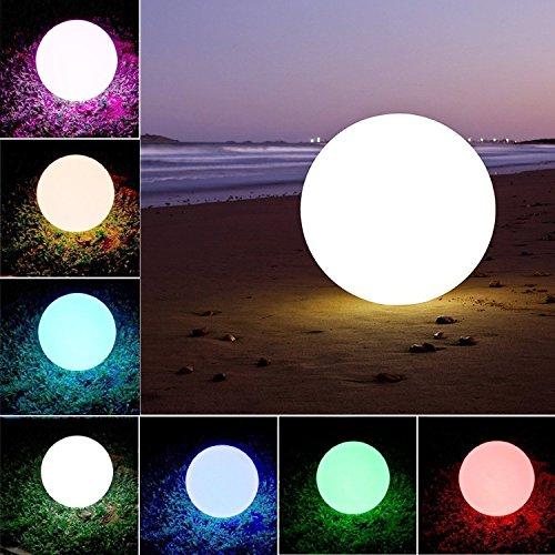 Waterproof LED Ball Light Lamp Multi Color Remote LED Lawn Lights Pool & Decor (12) by Babypanda