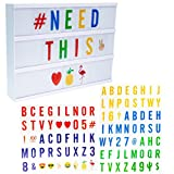 """Home Trends 12x9"""" Light Up LED Message Board Letters Emojis Cinema Light Box Marquee Battery Operated Sign"""