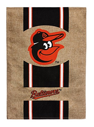 Evergreen Burlap Baltimore Orioles Garden Flag, 12.5 by 18 inches