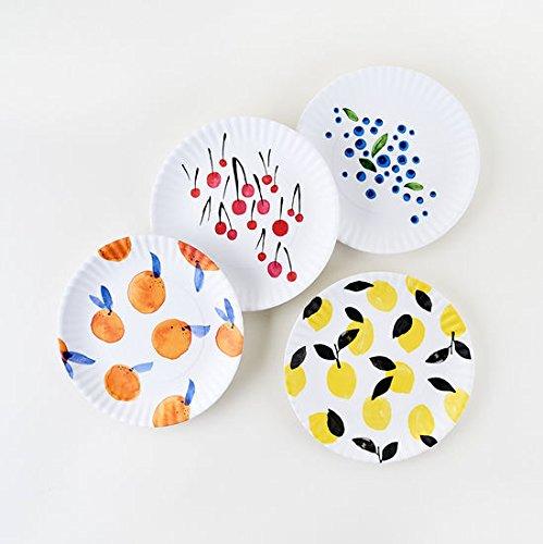 Fruit Plates Designed by Misha Zadeh - 9 inch Melamine