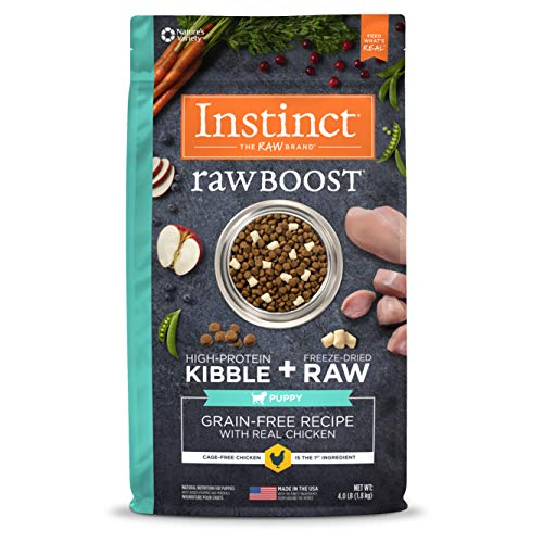 Instinct Raw Boost Puppy Grain Free Recipe With Real Chicken Natural Dry Dog Food By Nature'S Variety, 4 Lb. Bag For Sale