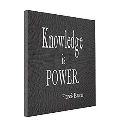 Amazon Wonbye Online Canvas Vintage Francis Bacon Knowledge Is Inspiration Knowledge Is Power Quote