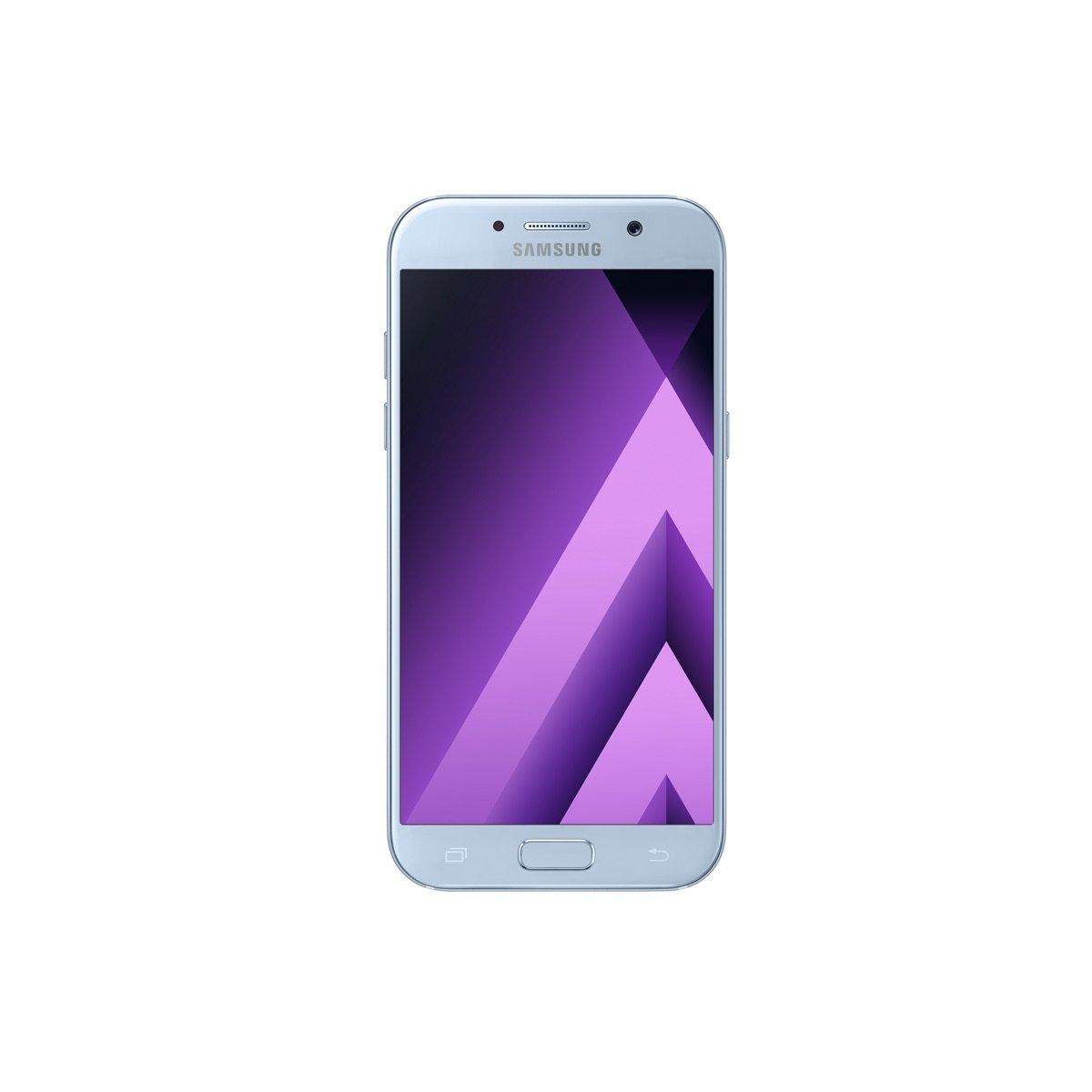 Samsung Galaxy A5 (2017) SM-A520F 32GB Dual-SIM Unlocked GSM Smartphone - Blue Mist by Samsung