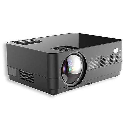 QinLL Mini proyector, Nativo 480P Proyector de película portátil ...