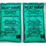 HEAT WAVE Instant Reusable Heat Pack - MEDIUM 2-Pack VALUE-PACK - Premium Quality - Medical Grade - MADE IN USA! (not China)
