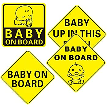 Amazon Com Zone Tech Quot Baby Up In This Bitch Quot Vehicle Safety Sticker Premium Quality