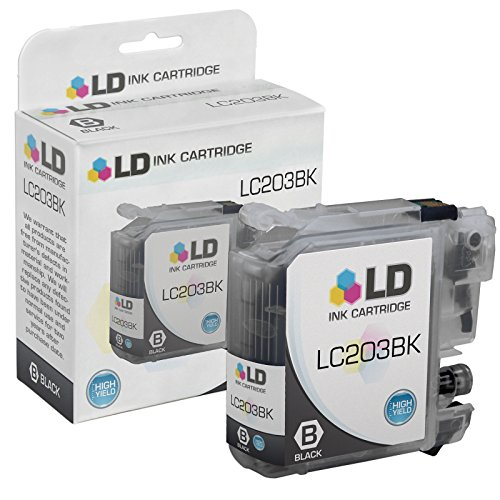 LD © Compatible Replacement for Brother LC203BK High Yield Black Inkjet Cartridge for use in Brother MFC J4320DW, J4420DW, J4620DW, J5520DW, J5620DW, and J5720DW Printers