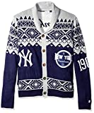 MLB New York Yankees Men's 2015 Ugly Cardigan Sweater, Medium, Team Color